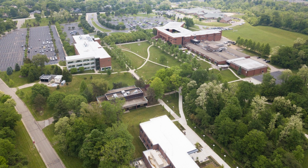 Aerial image of UC Blue Ash College campus