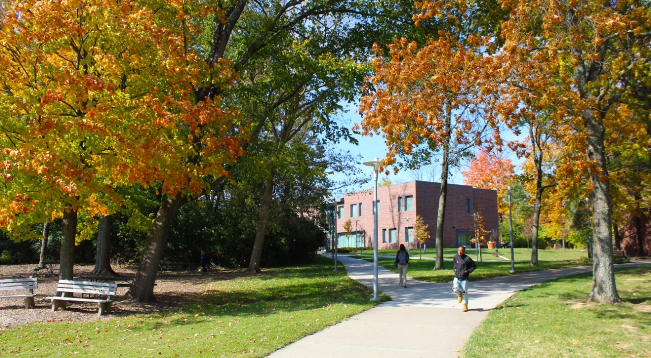 Scenic photo of UC Blue Ash College in the Fall