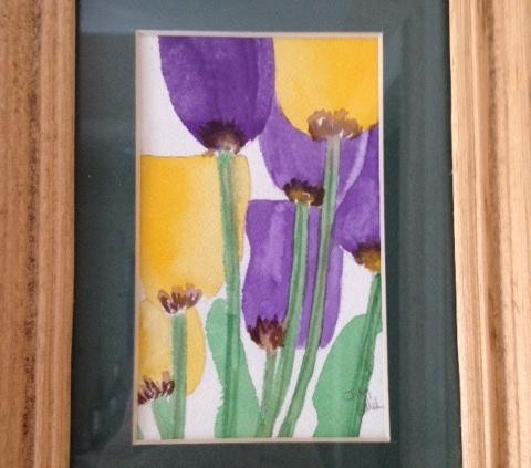 """5. Printemps, watercolor, 5"""" x 7"""" (2006)"""