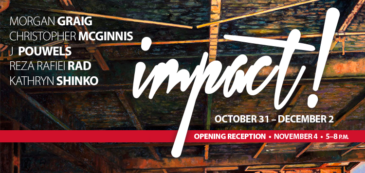 "Art gallery, ""Impact"" header design"