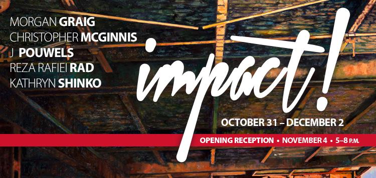 "Art gallery, ""Impact"" header design"