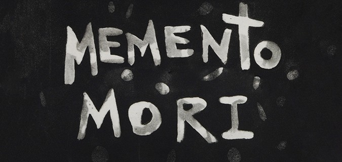 Memento Mori art gallery header design