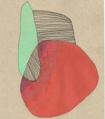 """1. 4.14.14, colored pencil and ink on paper, 5.5"""" x 8.5"""", 2014"""