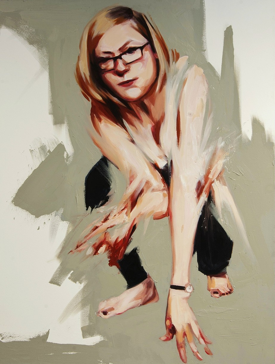 """1. The Catch, oil on canvas, 48"""" x 36"""" (2013)"""