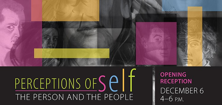 """Perceptions of Self"" exhibition header design"