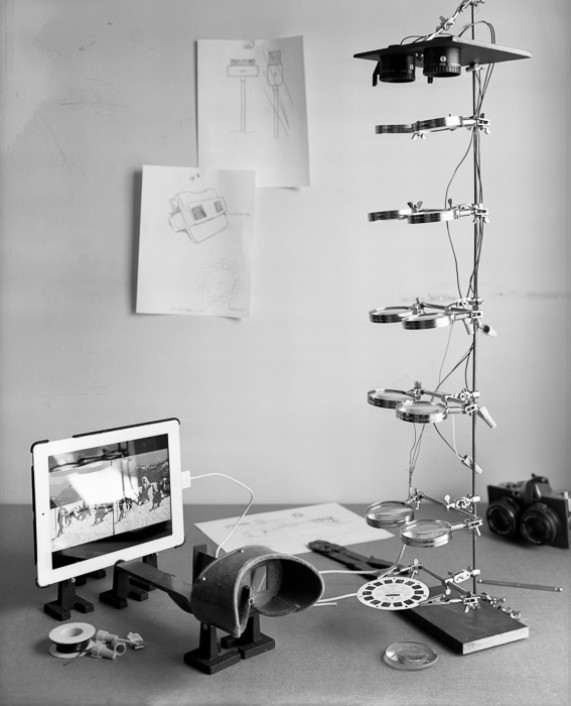 Exhibit photograph -various objects in black and white
