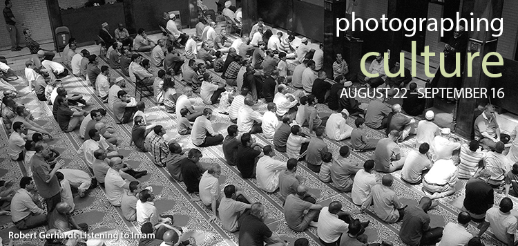 "Gallery Exhibit header for ""Photographing Culture"""