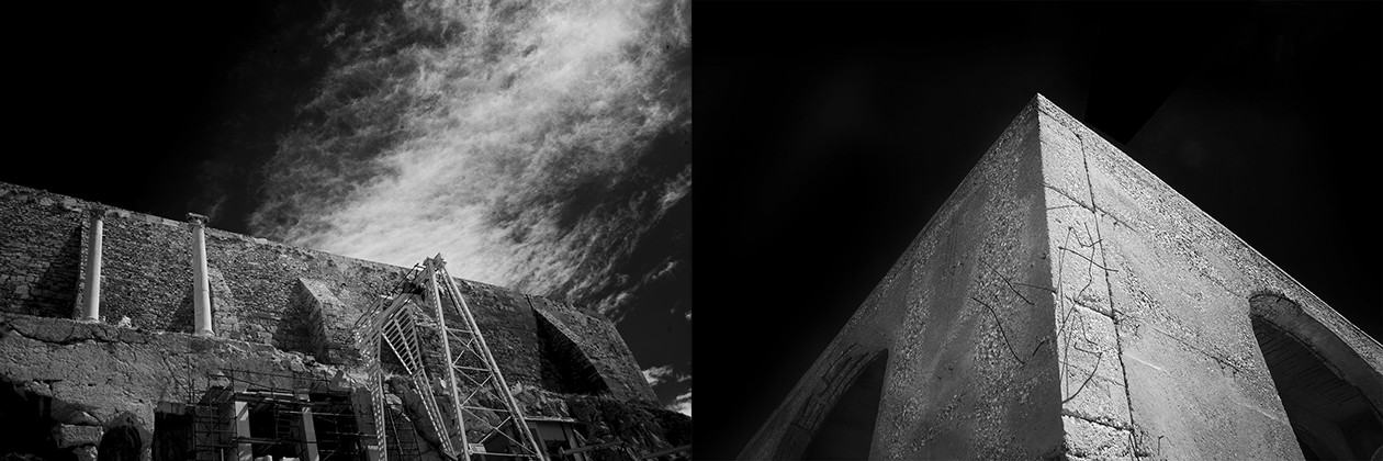 "3. Greekopolis No. 4, digital infrared photograph, 9""x25"" (2015)"