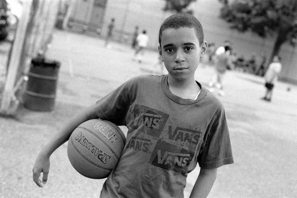 "3. Basketball Player in Park, Brooklyn NY, gelatin silver photograph, 16""x20"" (2011)"