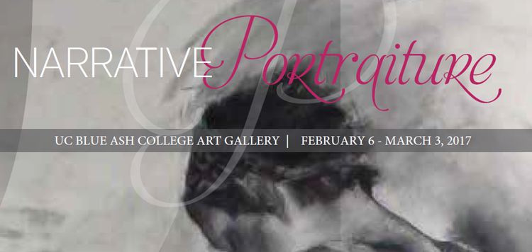 "Art gallery ""Narrative Portraiture"" header design"