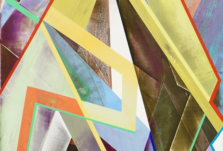 """6. Glimmer Dim, acrylic on canvas, 16"""" x 12"""" (2015)"""