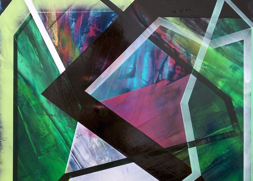 """5. Folding Shadows, acrylic on canvas, 25"""" x 25"""" (2015)"""