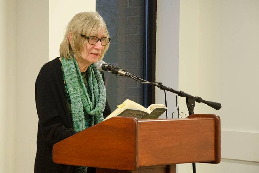Mary Ann Taylor-Hall reads some poetry