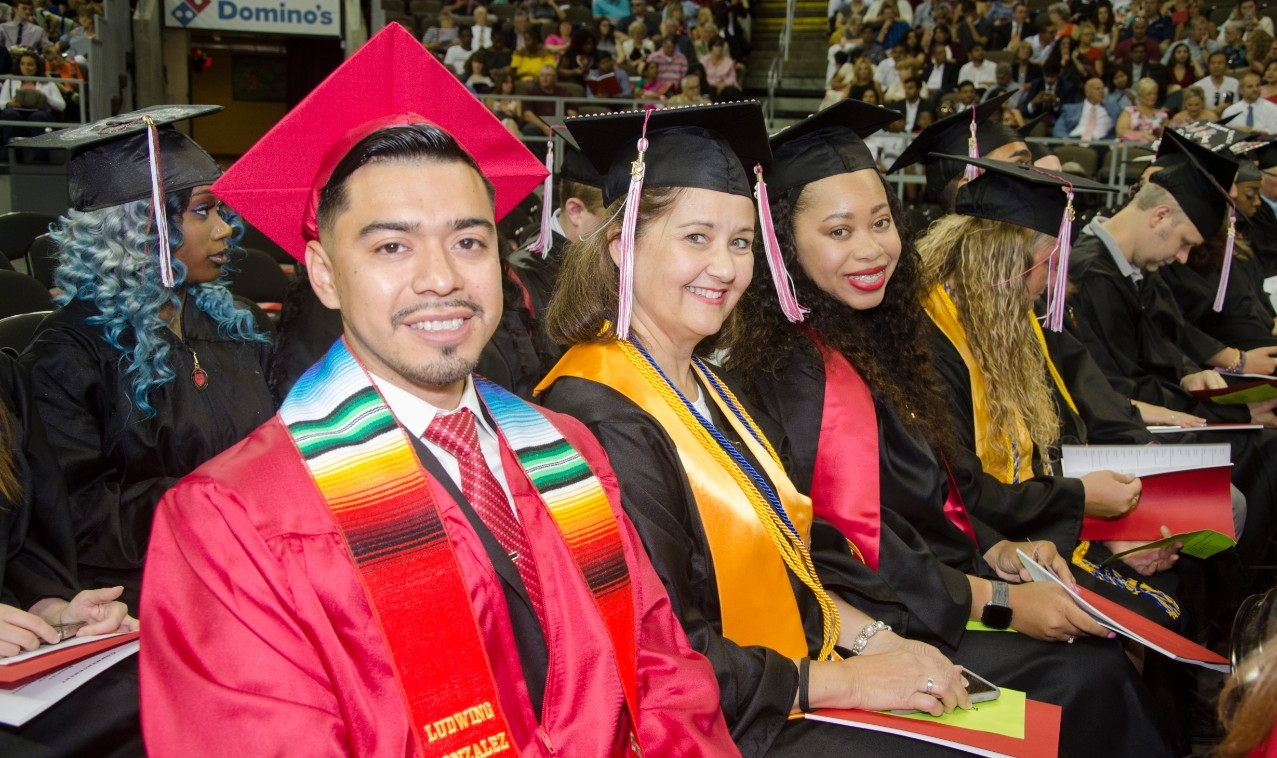 Students at graduation