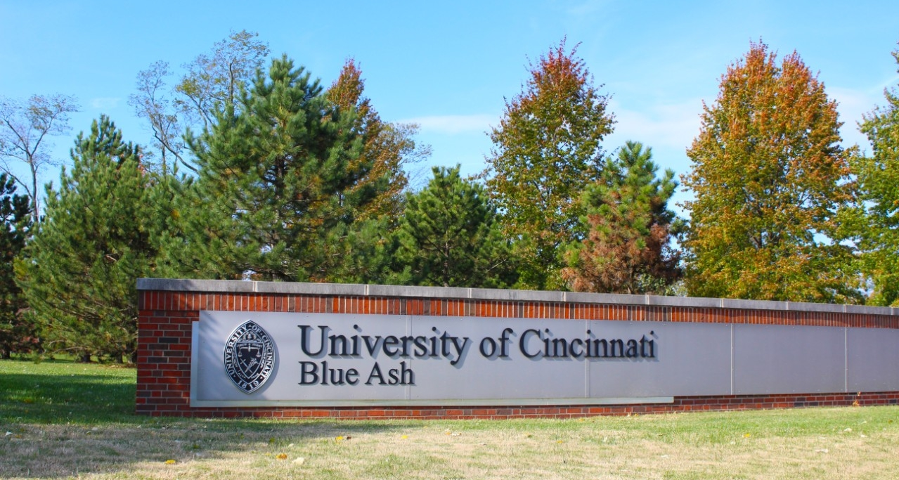 The entrance of UC Blue Ash College