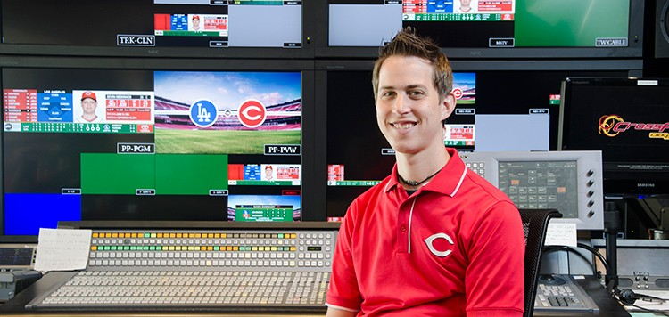 Billy Johnson in the Reds control room