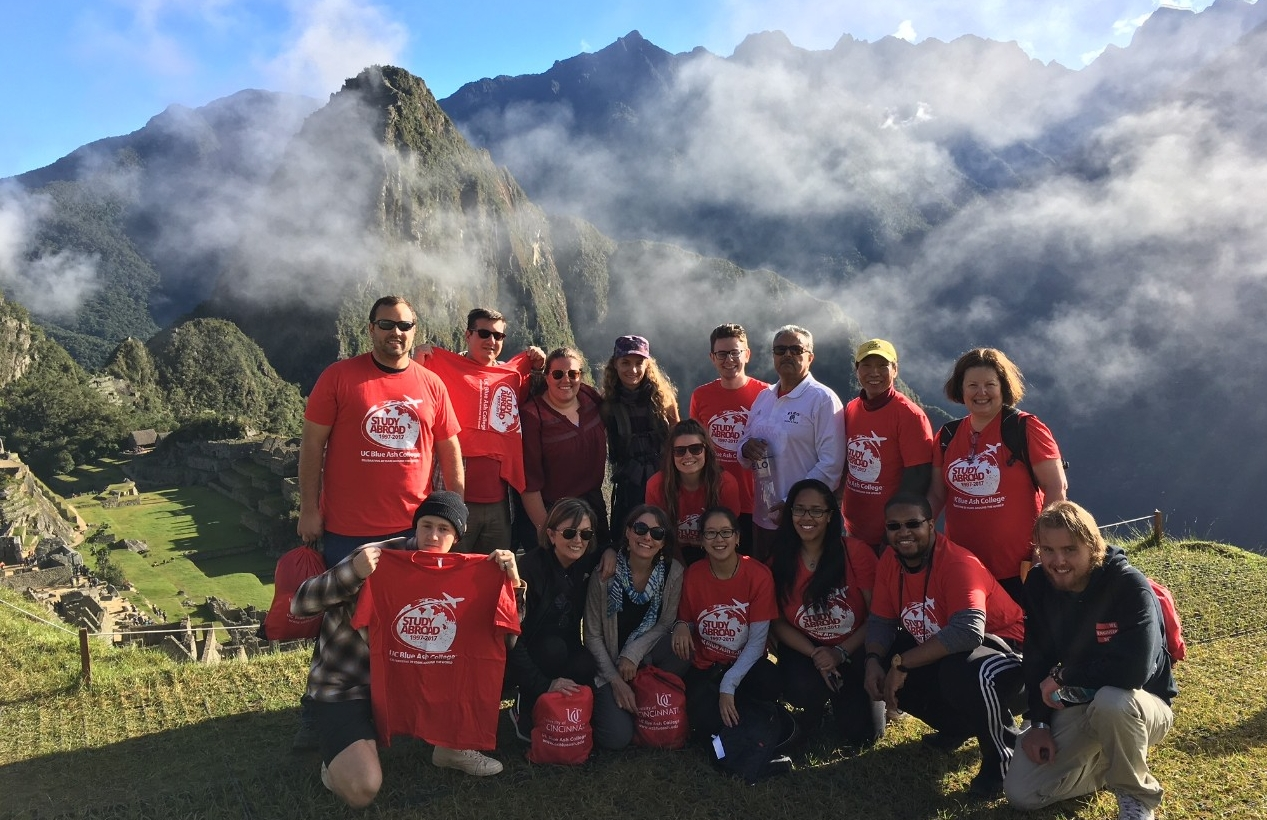 UC Blue Ash students and group leaders at Machu Picchu