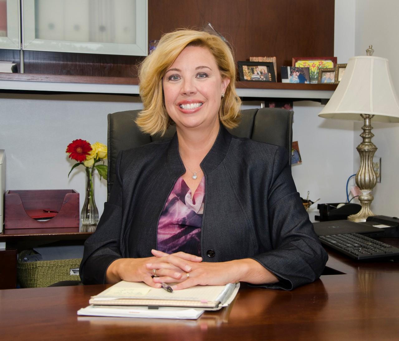 Dean Robin Lightner in her office