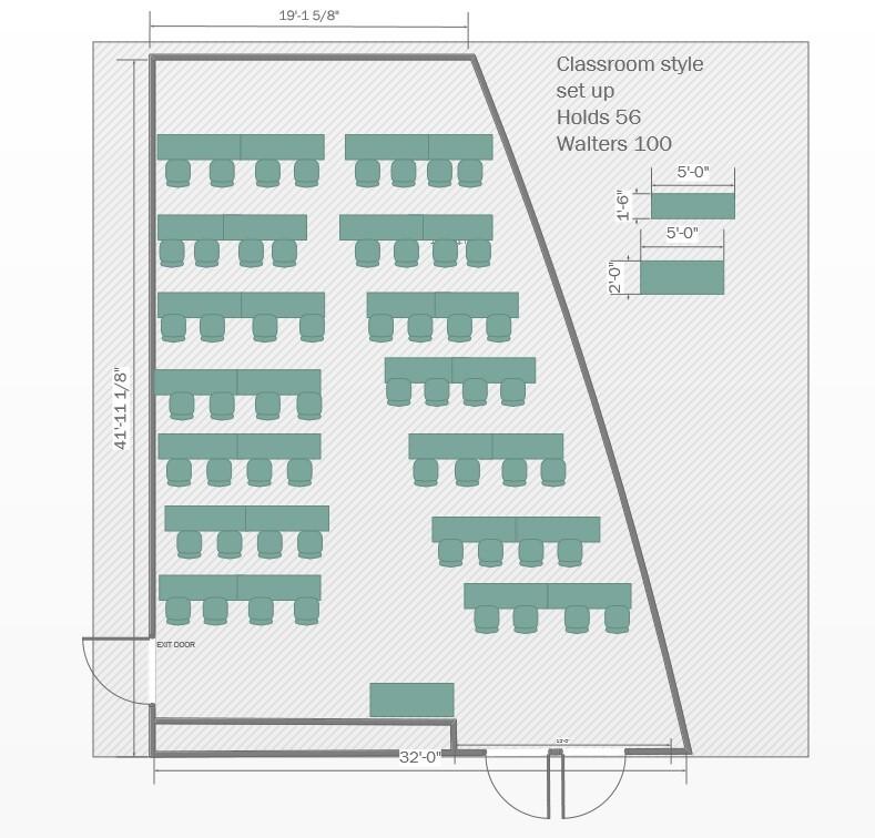 Classroom-default Floorplan for Walters 100