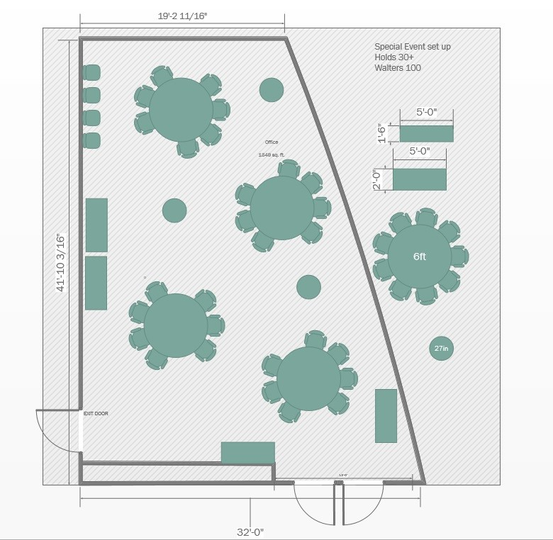 special-round Floorplan for Walters 100