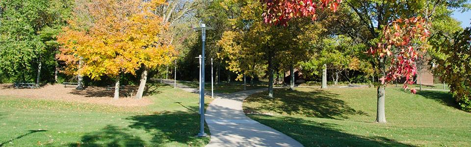 UC Blue Ash campus in autumn
