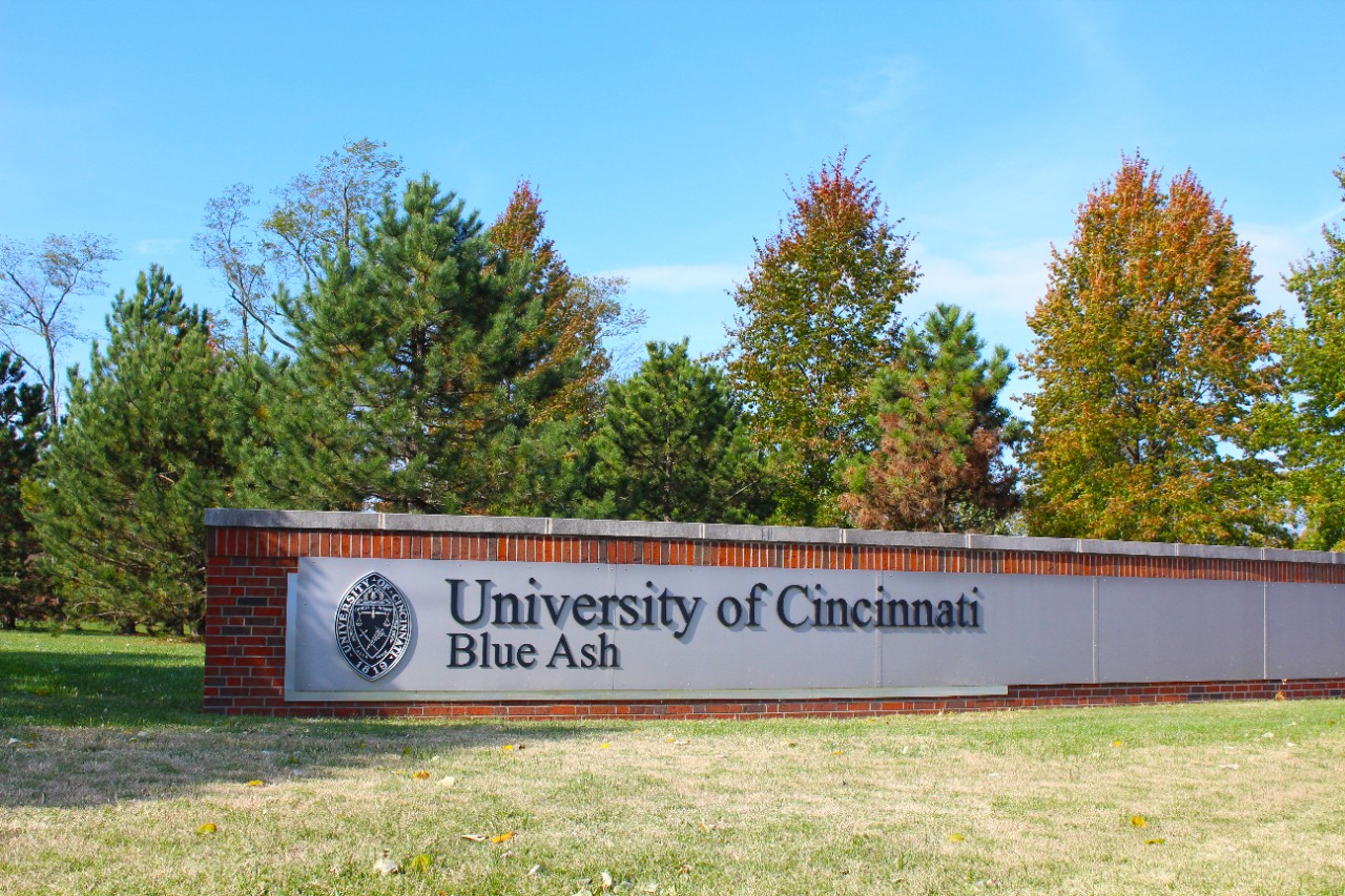 UC Blue Ash campus sign