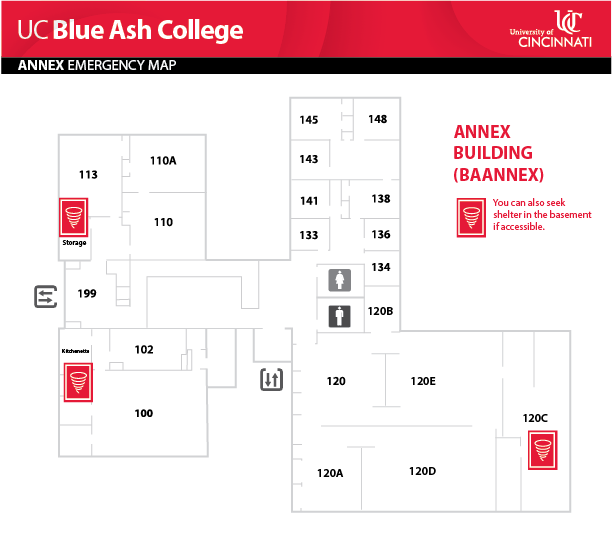 UC Blue Ash College Annex Emergency Map